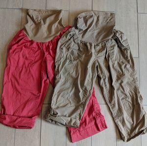 Two pairs Motherhood Maternit Size L pants